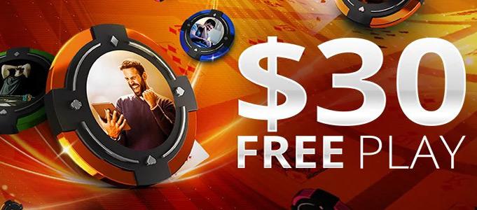 Бонус новым игрокам 30 долларов от partypoker.