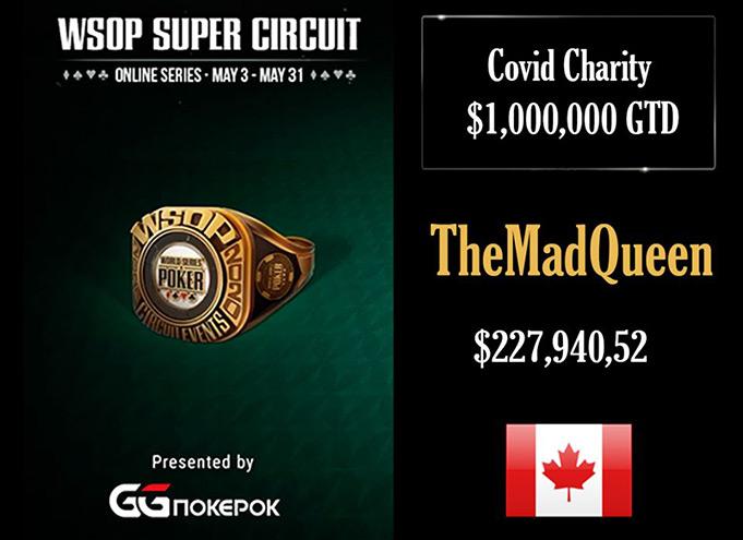 TheMadQueen получил золотой перстень WSOP-C на GGPokerOK.